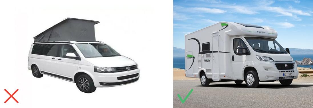 Camping-car sur fond blanc / Van dans la nature
