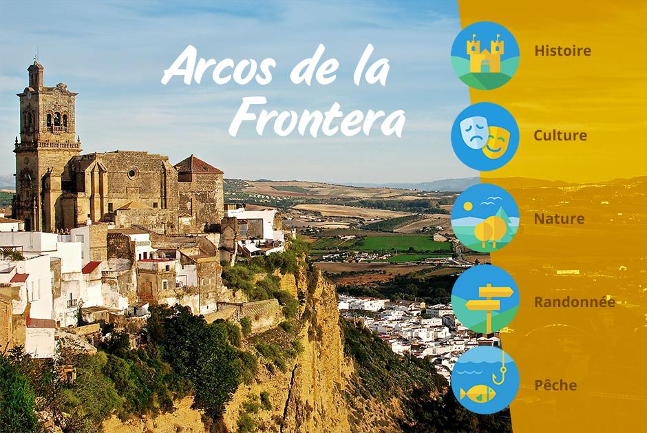 Le village blanc d'Arcos de la Frontera en Andalousie