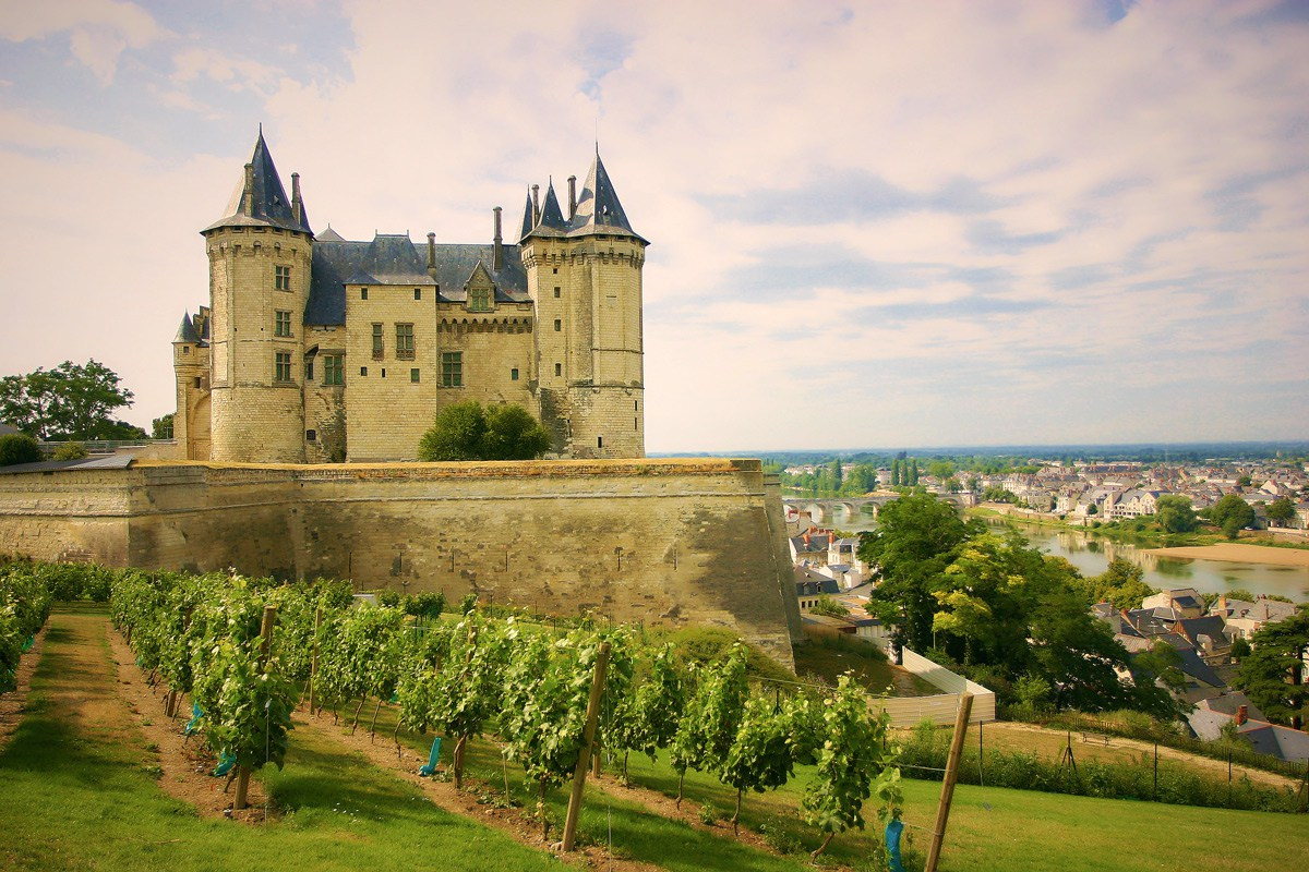 Comme dans un conte de fée : le château de Saumur entre Nantes et Tours.